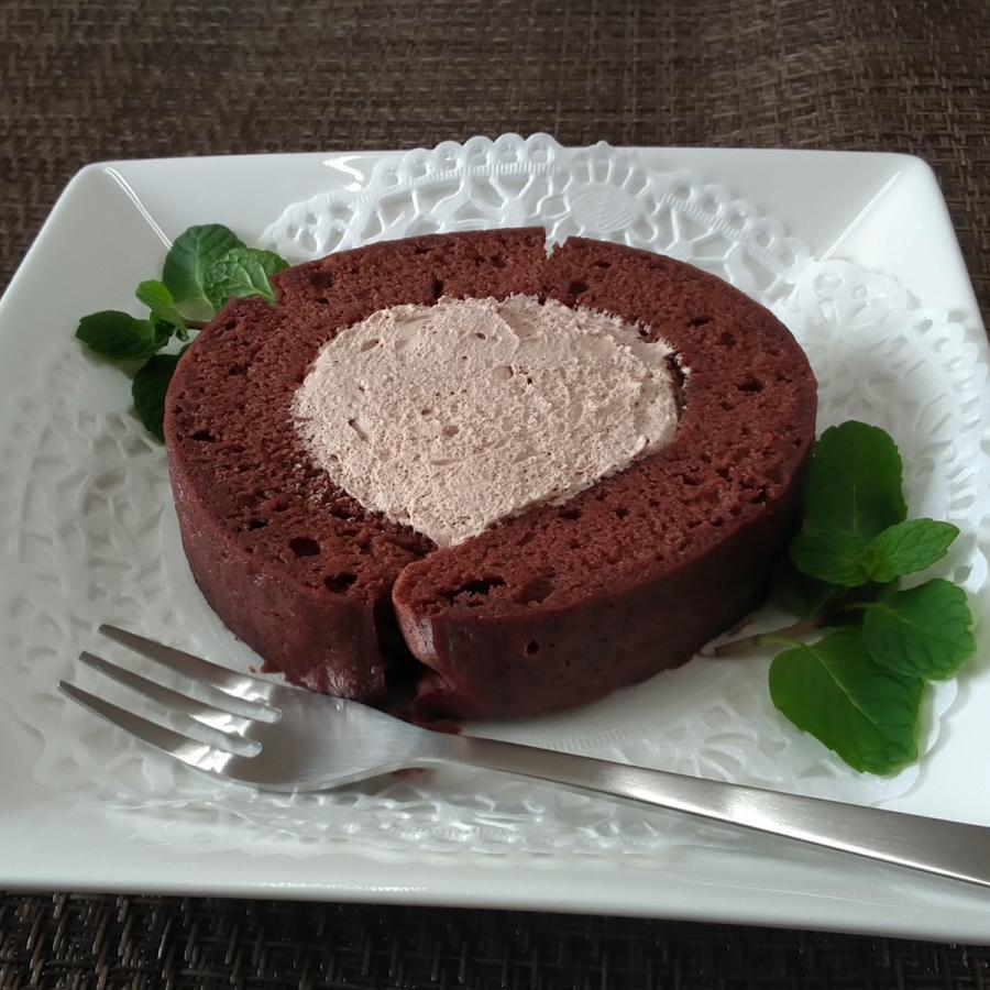 ふんわりロールチョコ 新作通販 アレルギー対応ロールケーキ 1個 小麦不使用 卵 乳 アウトレット