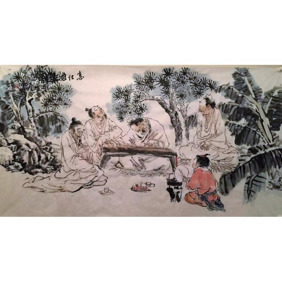 水墨画と禅 野宴  潘梦禅 女流画家