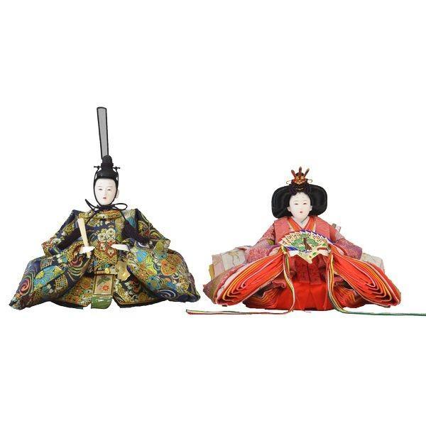 ひな人形 親王単品 DIYひな 京十番 三五 京極 l 116 藍地合わせ紋 130812