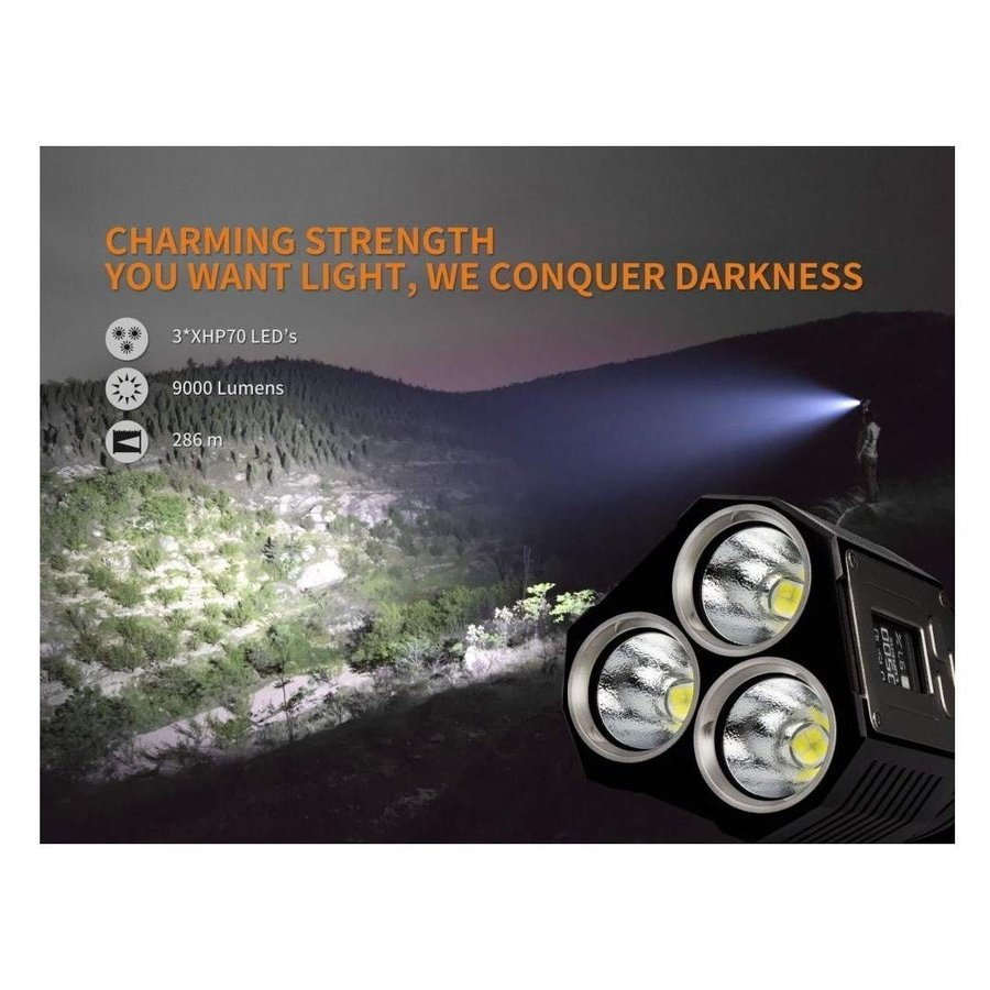 FENIX(フェニックス) TK72R XHP70 LED タクティカルフラッシュライト 明るさ最高9000ルーメン USB充電式 TK72
