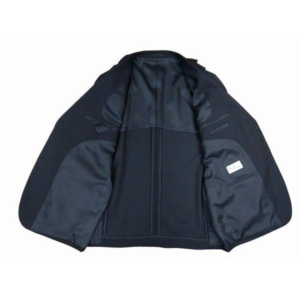 メンズ大きいサイズE体   フォーマルスーツ(礼服)アジャスター付き ブラック 2ボタン2タック※ウール混なので、ポリエステル100%スーツと違い光沢無し sukipio 05