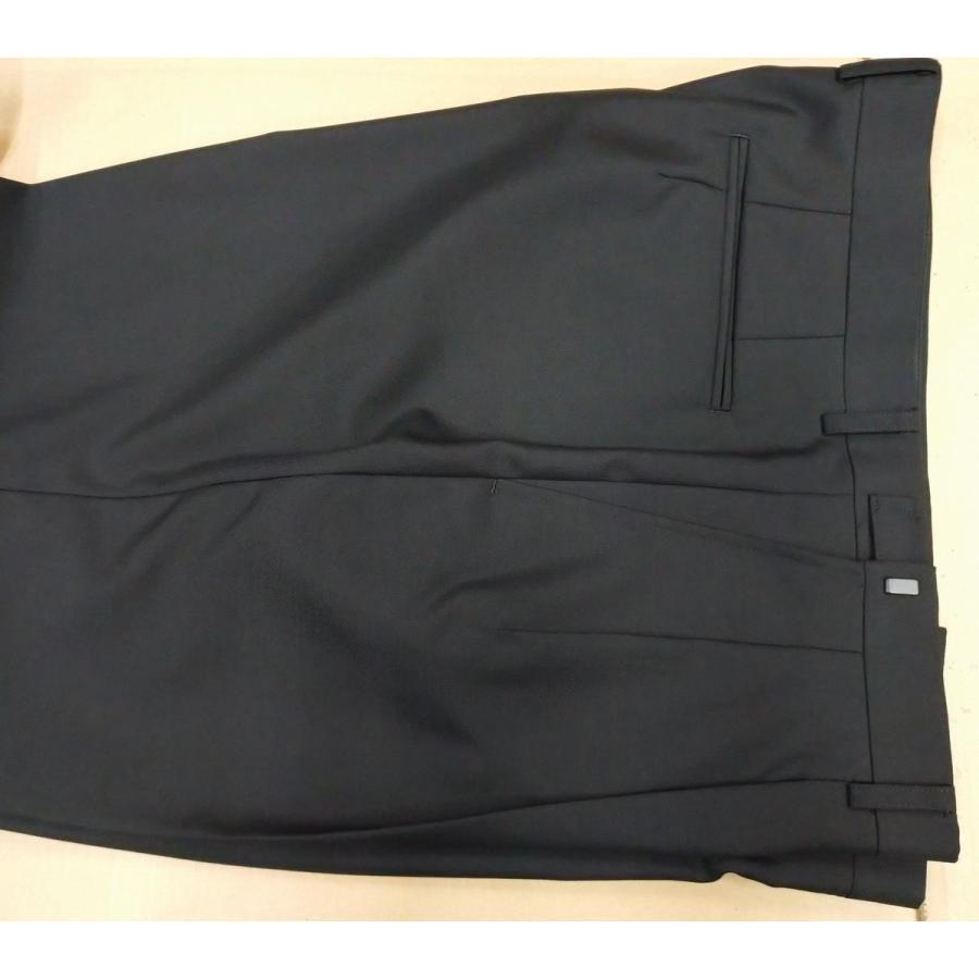 メンズ大きいサイズE体   フォーマルスーツ(礼服)アジャスター付き ブラック 2ボタン2タック※ウール混なので、ポリエステル100%スーツと違い光沢無し sukipio 06
