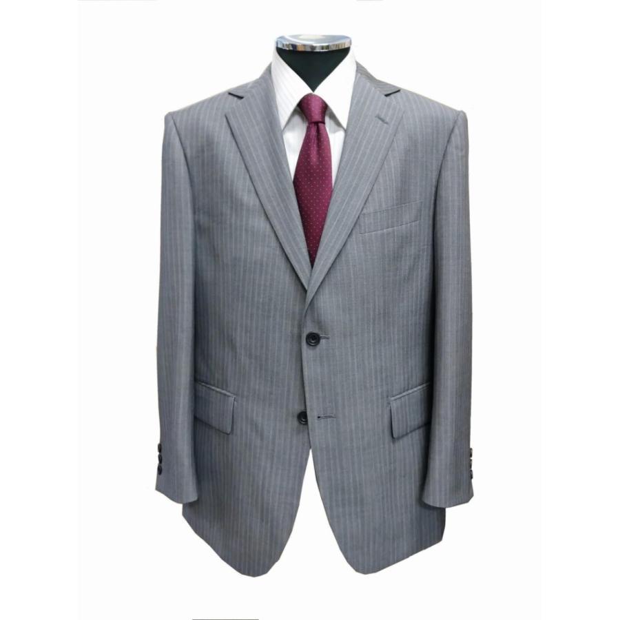 20グレー春夏スーツ 背抜き AB体,BB体 2つボタン2タック ゆったりシルエット