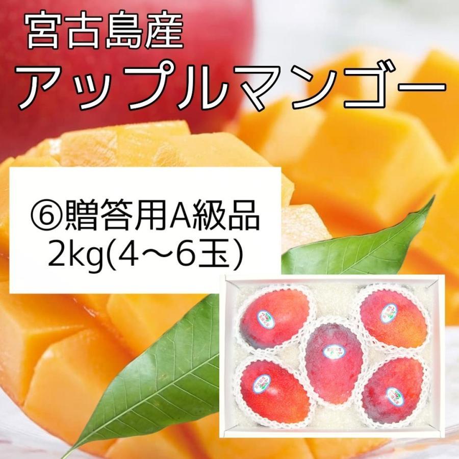6 贈答用A級品 祝日 宮古島産アップルマンゴー2kg 化粧箱入り 買取 約4~6玉入り