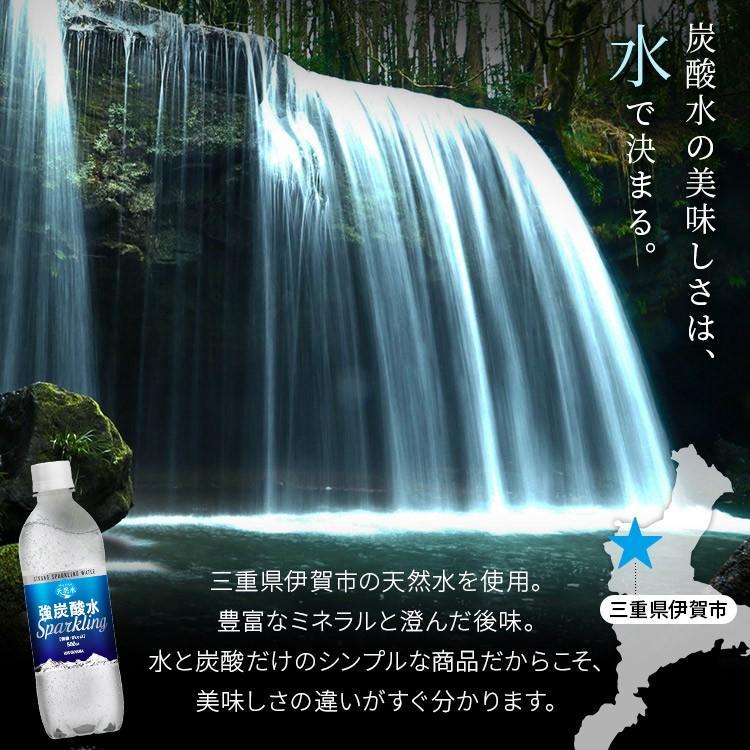 炭酸水 強炭酸 500ml 24本 天然水 水 国産 まとめ買い ペットボトル アイリスの天然水 強炭酸水500ml アイリスオーヤマ (D) 代引不可|sukusuku|03