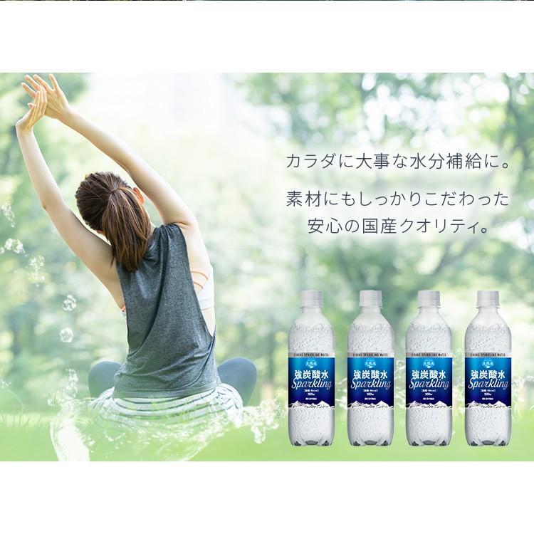 炭酸水 強炭酸 500ml 24本 天然水 水 国産 まとめ買い ペットボトル アイリスの天然水 強炭酸水500ml アイリスオーヤマ (D) 代引不可|sukusuku|10