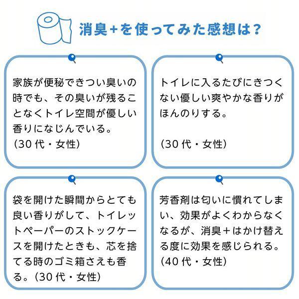 エリエール トイレットペーパー 消臭プラス(+) 1.5倍巻き 37.5m×8ロール ダブル パルプ100% ほのかに香る ナチュラルクリアの香り 大王製紙 (D)|sukusuku|06