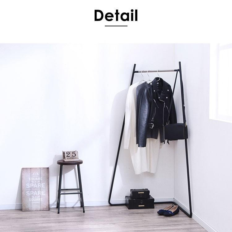 ハンガーラック おしゃれ 衣類収納 収納 スタイルハンガー コーナータイプ PI-C150 ホワイト ブラック アイリスオーヤマ|sukusuku|10
