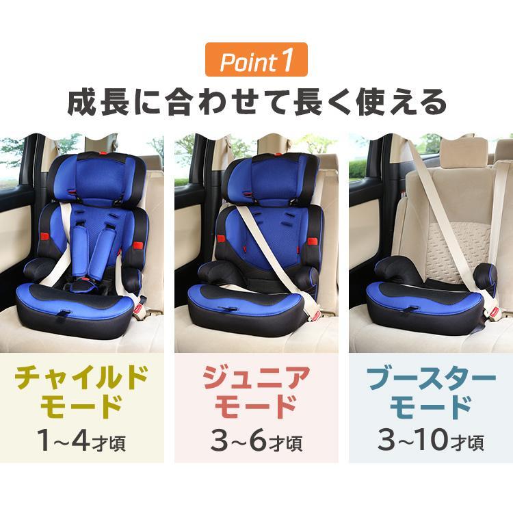 チャイルドシート 3歳 1歳 2歳 ジュニアシート 車 こども 子供 取り外し可能 10歳まで ベビーシート 長く使える 安全 sukusuku 03
