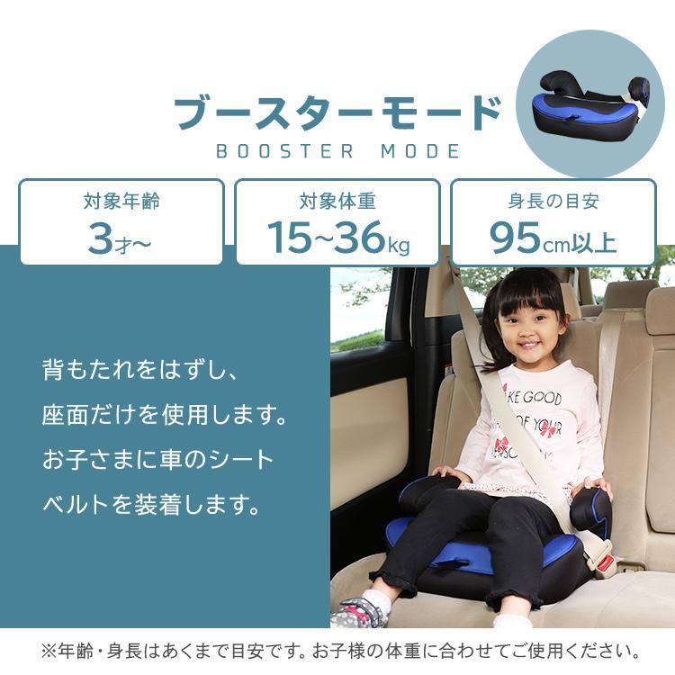 チャイルドシート 3歳 1歳 2歳 ジュニアシート 車 こども 子供 取り外し可能 10歳まで ベビーシート 長く使える 安全 sukusuku 06