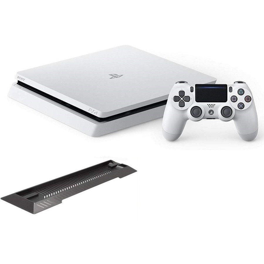 PlayStation 4 グレイシャー・ホワイト 500GB アンサー 縦置きスタンド付 新品 ゲーム機 本体 CUH-2200AB02