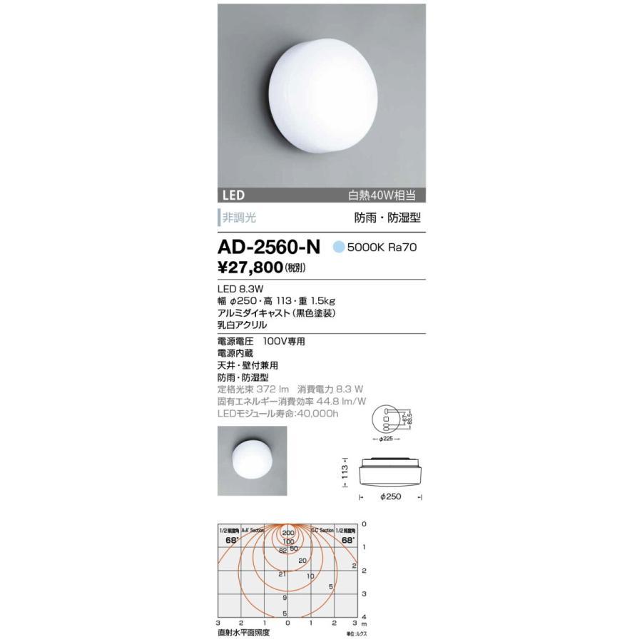 山田照明 ブラケットライト 防雨・防湿 防雨・防湿 昼白色 非調光 AD-2560-N