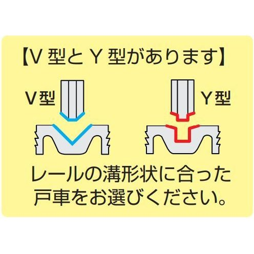 2個セット! ネコポス発送 送料無料 DAIYASU 交換用 取替用 調整戸車 V型コマ Y型コマ  ベアリング入り sumai-factory 10