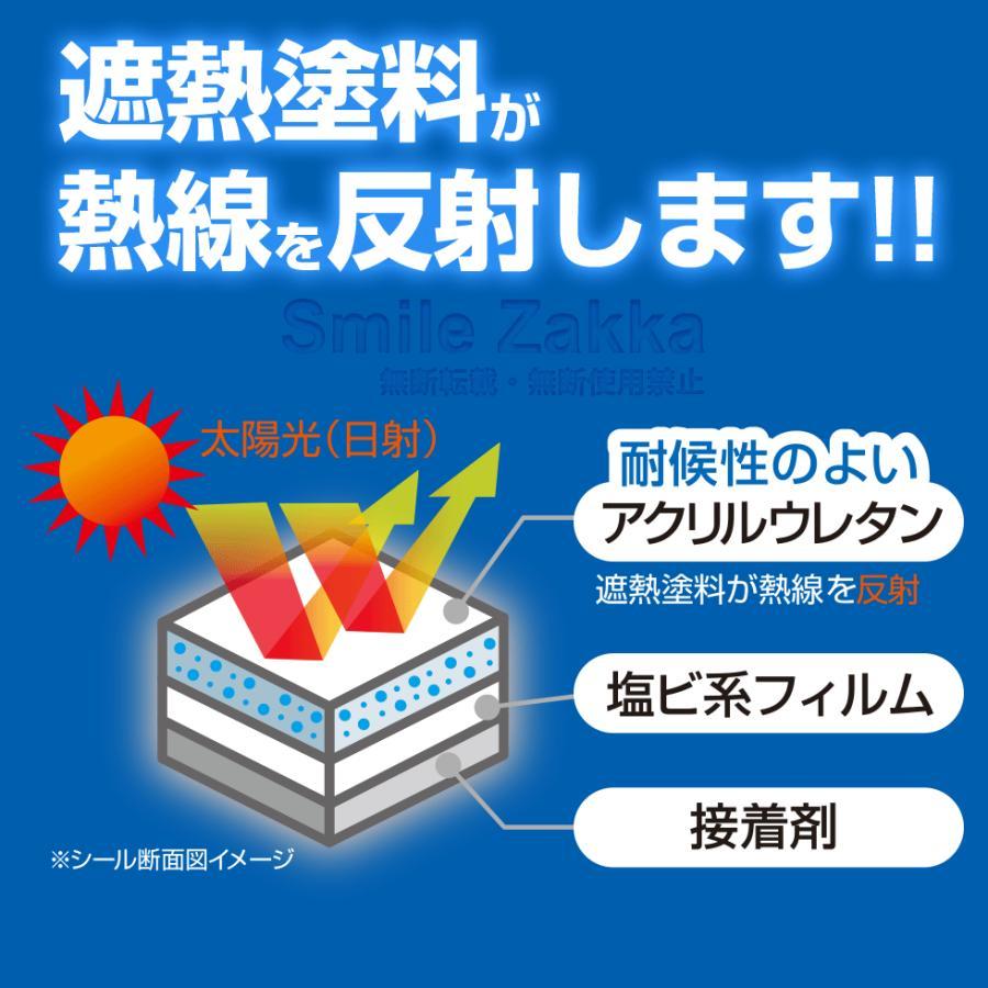エアコンの室外機を守ります エアコン 室外機 遮熱シール 遮熱 断熱 冷却 冷却効果 遮熱フィルム フィルム 日よけ 日本製|sumairu-com|05