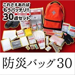 防災セット(災害対策30点セット) 防災バッグ30 避難セット 地震 非常用持ち出し袋 防災リュック|sumairu-com