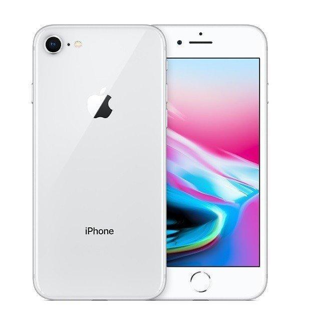 バッテリー新品 整備済品 iPhone8 64GB シルバー SIMフリー Apple 本体 MQ792J 新作送料無料 A1863 豪華な 白ロム A スマートフォン