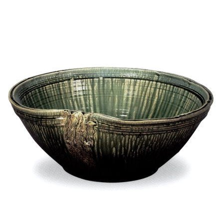 信楽焼 緑ガラス 水鉢 20号