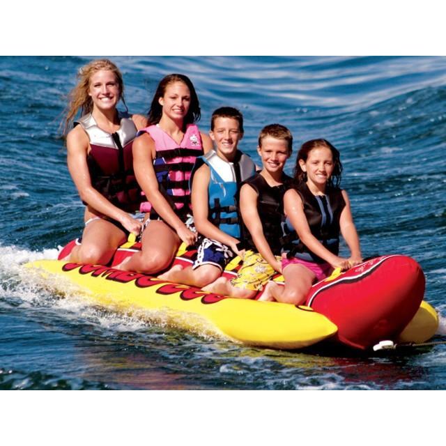 高質 5人乗り AIRHEAD トーイングチューブ バナナボート JUMBODOG, 野球用品専門店 野球館 30d5733a
