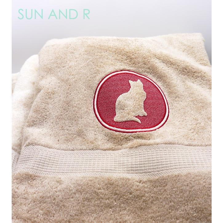 キャット 51犬種デザイン 3Dシルエット バスタオル sun-a-r 02