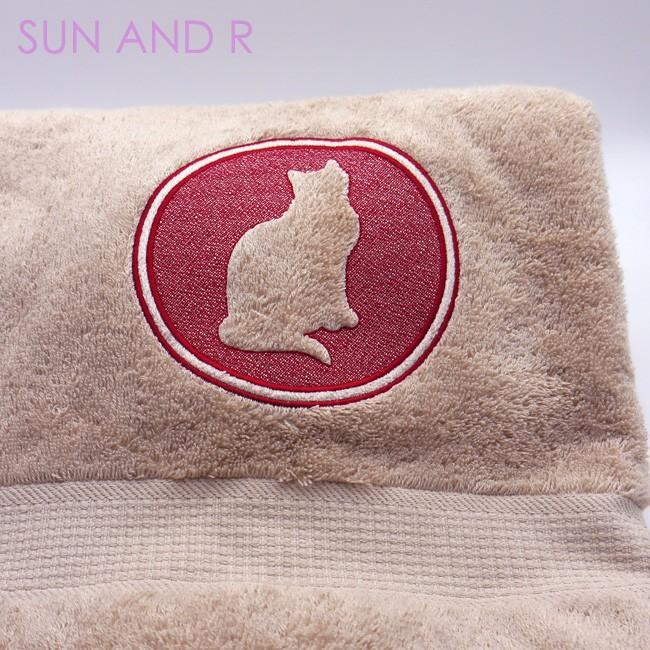 キャット 51犬種デザイン 3Dシルエット バスタオル sun-a-r 03