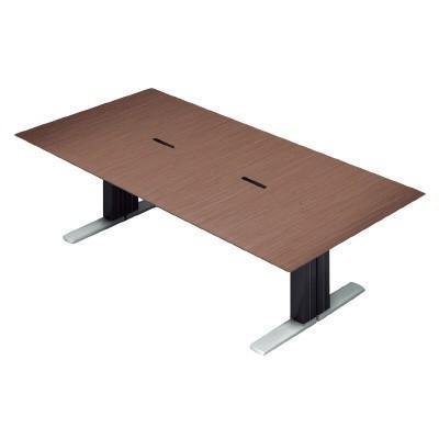 PLUS (プラス) 会議テーブル XF XF EXECUTIVE (エクセフ エグゼクティブ) XL-2412KZ WN ウォールナット突板タイプ【幅2400mmmm×奥行1200mm×高さ720mm】