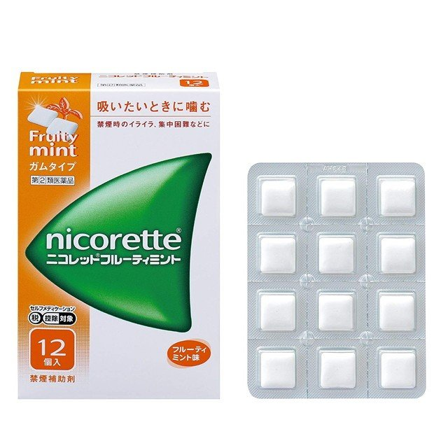 スイッチOTC 定番スタイル 指定第2類医薬品 価格 交渉 送料無料 ニコレットフルーティミント 12個
