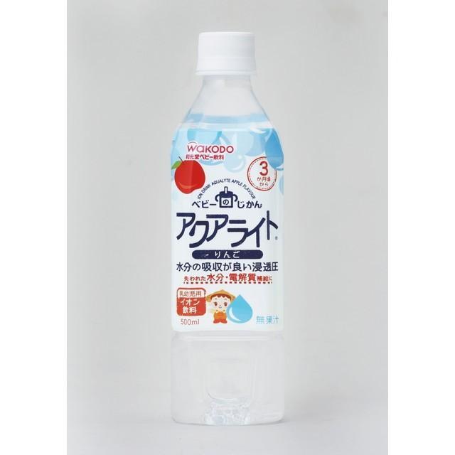 和光堂 お得クーポン発行中 ベビーのじかん アクアライト りんご 500ml 24本セット 3ヶ月頃から セールSALE%OFF