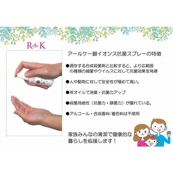 【送料無料】アールケー銀イオン抗菌スプレー 10本セット ノンアルコール 無添加 合成香料無配合 無着色 ウイルス対策 日本製 sunfield555 05
