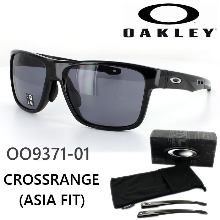 オークリー サングラス CROSSRANGE クロスレンジ OO9371 01 アジアンフィット スポーツ カジュアル 国内正規商品 ポイント15倍