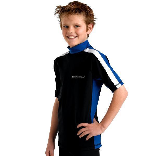 UVカット 水着(子供用) - ジュニア ラッシュガード 半袖 ※紫外線カット(UVカット)最高値UPF50+