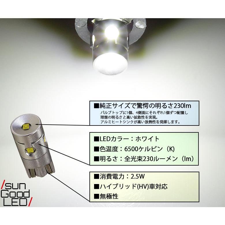 スズキ ハスラー MR52S MR92S ライセンスランプ T10 LED バルブ ホワイト 実測値230lm 6500K 雷公 180日保証 1個入 sungood 02