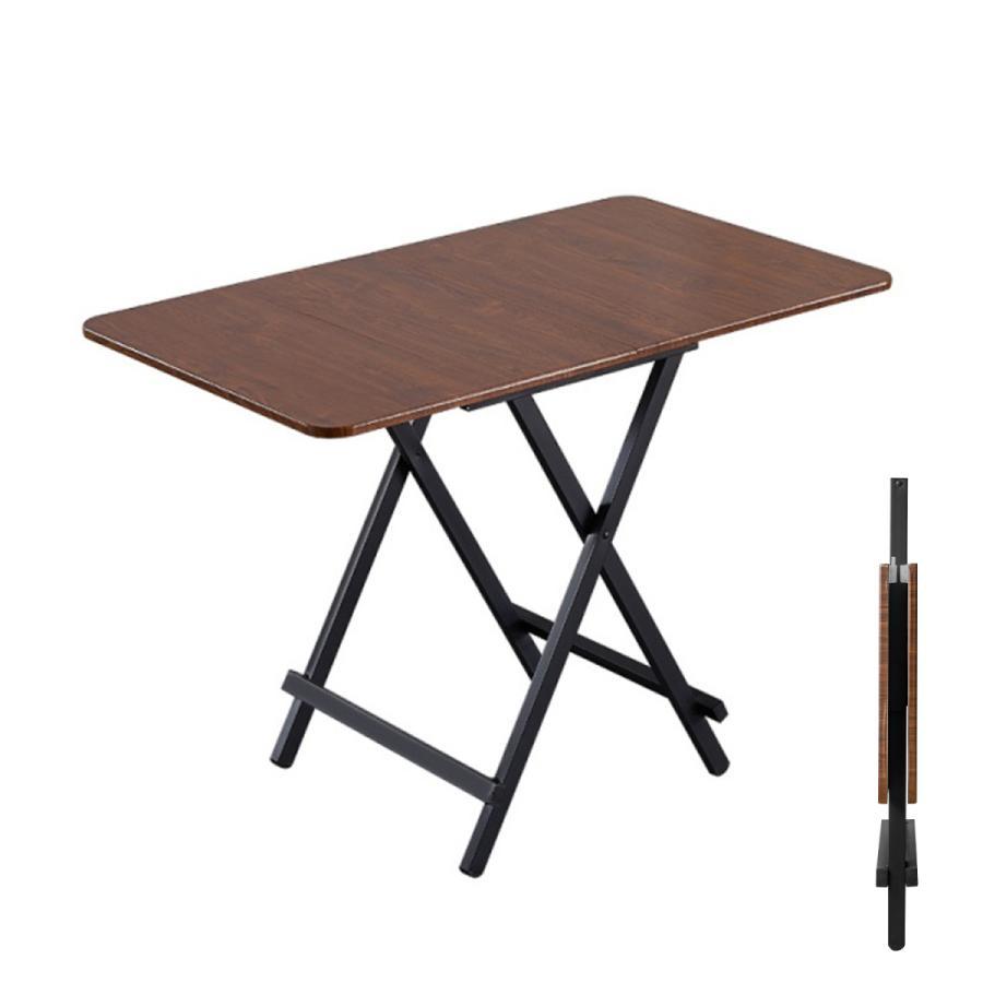 ダイニングテーブル 折りたたみ 木製 軽量 リビングテーブル ダークブラウン デスク 机 完成品 作業机 学習机 キッチン 作業台 sunpie 10
