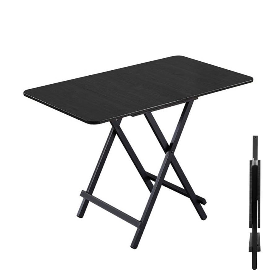 ダイニングテーブル 折りたたみ 木製 軽量 リビングテーブル ダークブラウン デスク 机 完成品 作業机 学習机 キッチン 作業台 sunpie 11