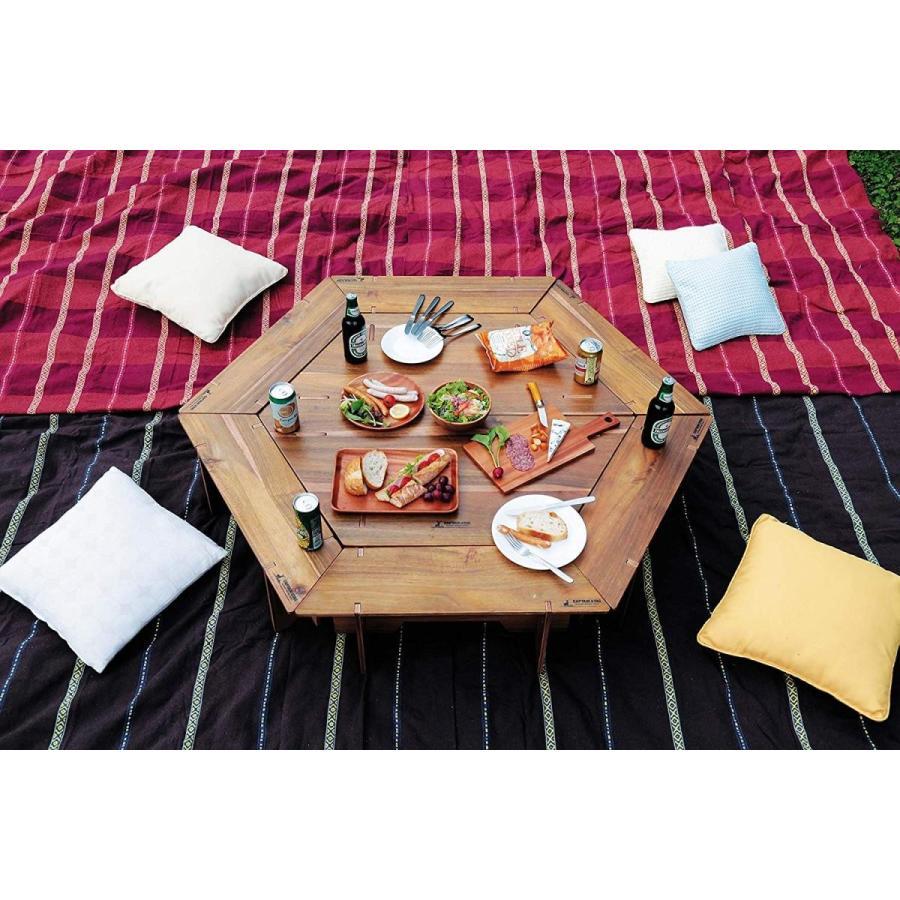 キャプテンスタッグ(CAPTAIN STAG) テーブル ヘキサグリルテーブルセット 収納バッグ付き CSクラシックス UP-1038