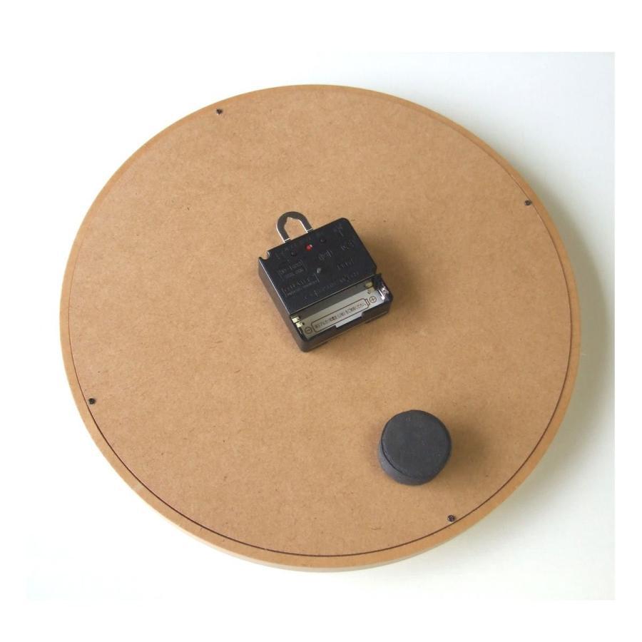フォーカス・スリー 置き時計 ナチュラル 直径29×奥行4.5cm