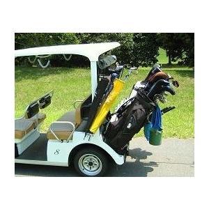 """米国で発明されたゴルフセルフプレー便利グッツ""""セルフキャディ本体BLACK"""" 複数注文でショルダーストラッププレゼント"""