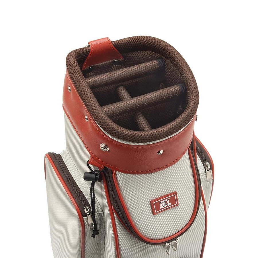 帆布シリーズEZYPOWER(イージーパワー) 帆布風キャディバッグ コンパクトライトモデル カラー:アイボリー/サイズ:8型/重さ3.2k