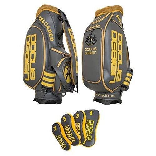 ドゥーカス DOCUS メンズ ゴルフ ツアーモデル キャディバッグ 10インチ ヘッドカバーセット(DR, 3W, 5W, X) DCC7