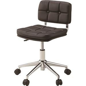 デスクチェア(椅子) 昇降機能付き スチール/ソフトレザー/合皮 RKC-301BK RKC-301BK ブラック(黒)