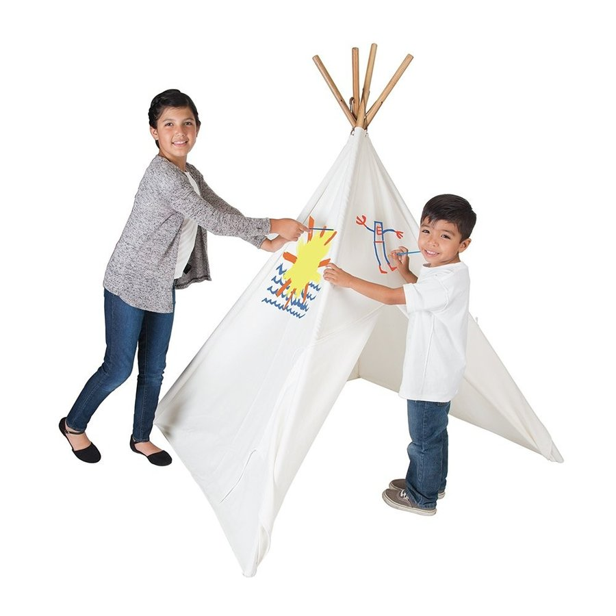 Pacific Play Tents The Painting Cotton Canvas Teepee パシフィック プレイテント ペイン
