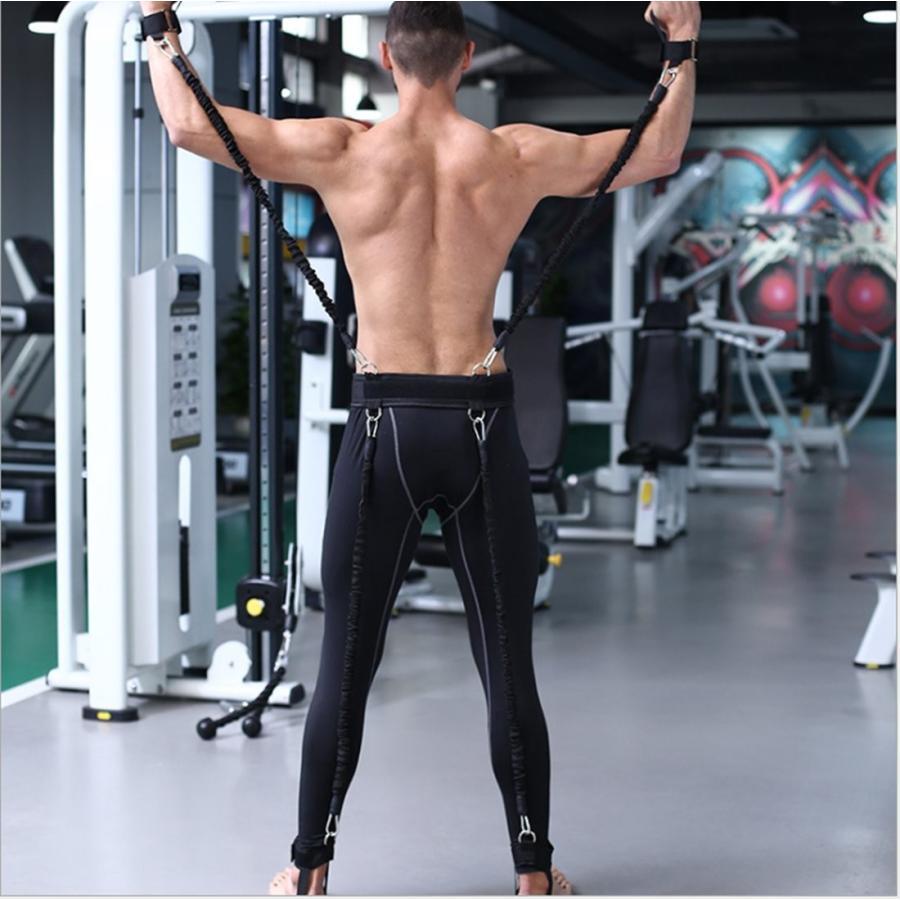 Ranbo Heavy Exercise Band Fitnessバンド抵抗トレーニングバンドwithハーネス脚強度と機敏性トレーニングスト