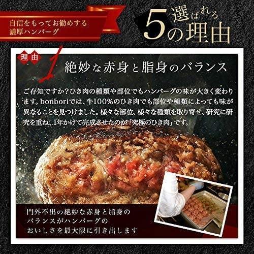 送料無料(本州)究極のひき肉で作る 牛100% ハンバーグステーキ 120g×12個入り (プレーン120g)|sunrise-eternity|08