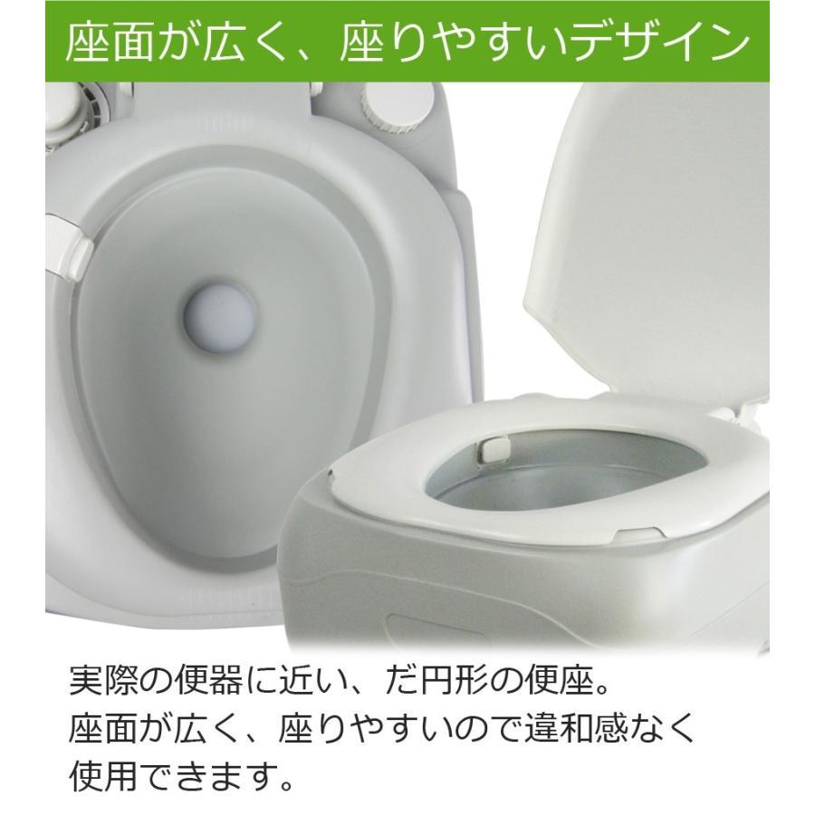 ポータブルトイレ 簡易トイレ 非常用トイレ 水洗トイレ 災害 介護用 12リットル 12L 水洗式 介護用トイレ 汚物タンク取り外しタイプ SR-PT4412 sunruck-direct 04