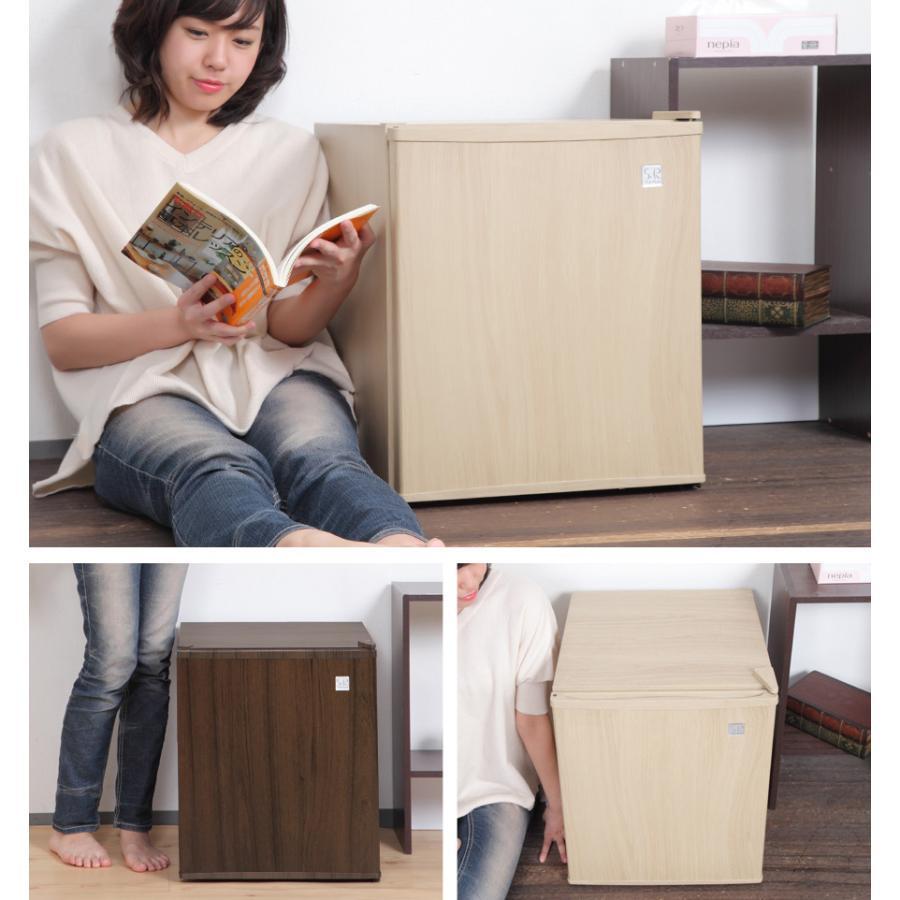 冷蔵庫 1ドア 48L 一人暮らし ペルチェ方式 木目調 小型 おしゃれ 1ドア冷蔵庫 小型冷蔵庫 ミニ冷蔵庫 右開き 静音 新生活 一人暮らし用 SunRuck|sunruck-direct|04