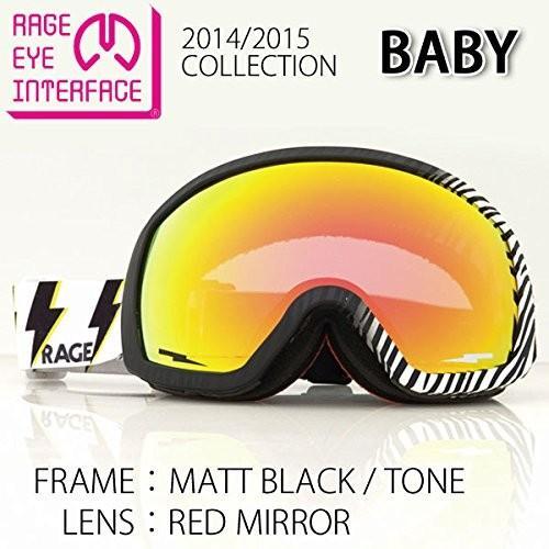 RAGE EYE INTERFACE(レイジアイインターフェイス) スノーボードゴーグル BABY MATBLK/TONE LENS COLOR/