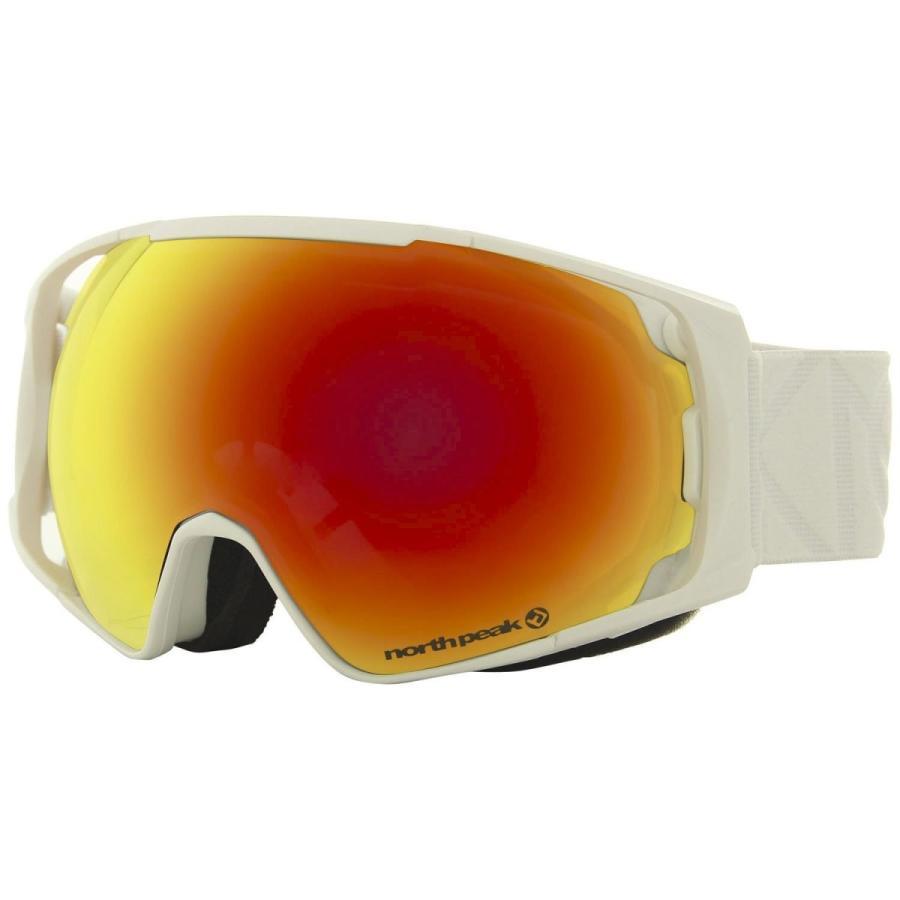 north peak(ノースピーク) ゴーグル スノーボード スキー メンズ レディース 交換レンズタイプ【ダブルレンズ 成形球面レンズ 紫外線カッ