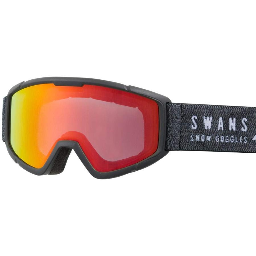 SWANS(スワンズ) 子供用 スキー スノーボード ゴーグル 5歳~12歳 くもり止め ミラー スキー スノーボード 140-MDH MBK