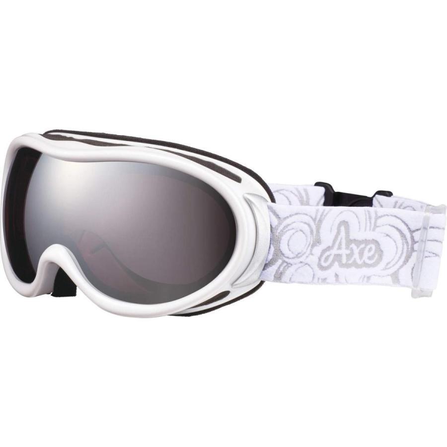 AXE(アックス) スキー レディース ゴーグル 偏光レンズ・ヘルメット対応・メガネ対応・ダブルレンズ・ノーズフィット・UVプロテクション パールホ