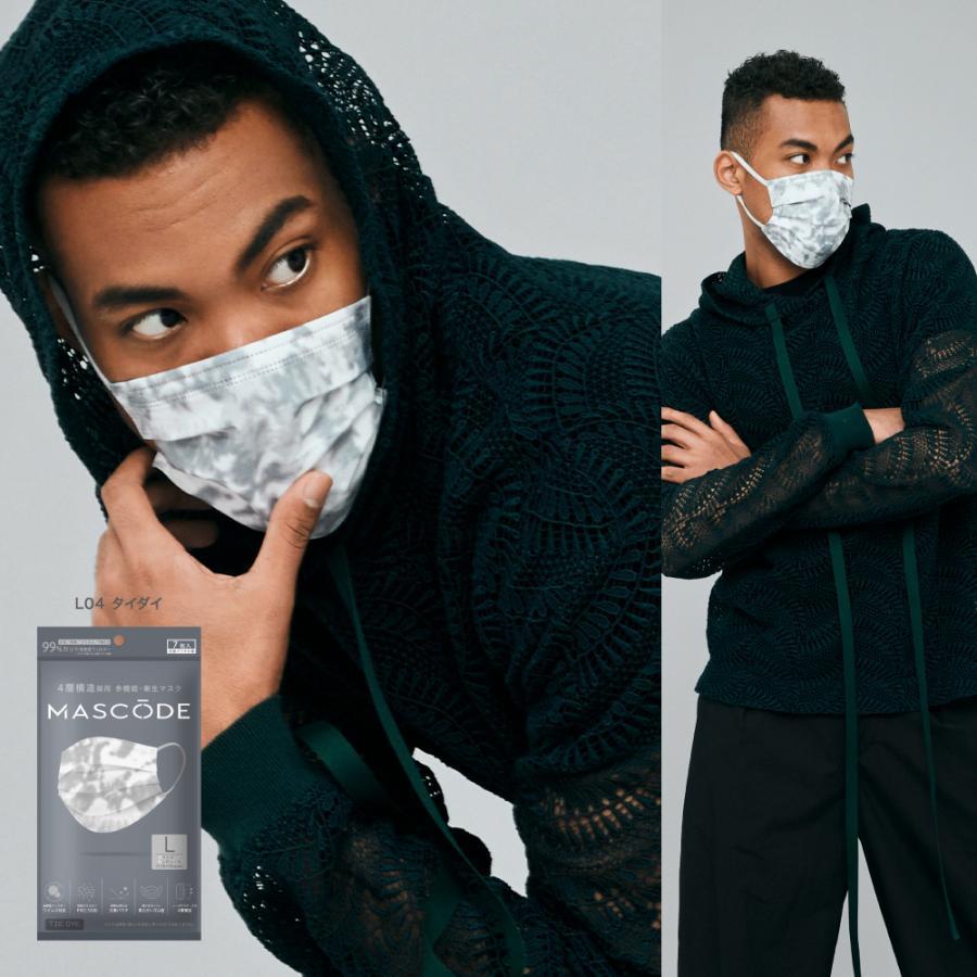 ★公式★不織布マスク 不織布マスクカラー おしゃれマスク カラーマスク 4層構造 リンクコーデ 血色マスク MASCODE/マスコード sunsmarche 07