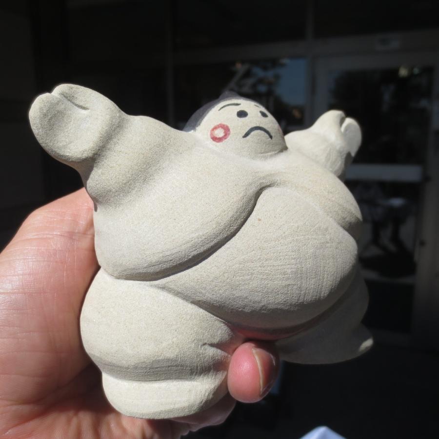 お相撲さん 石の置物 石 関取 あんこ型 台石付き !送料無料 :SUMOU ...